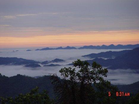 Panorama Selat Malaka di pagi hari