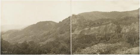 Jalan yang sedang dibangun rute Lubuk Bangku - Koto Baru (Pangkalan),11 km dari Koto Alam. Tahun 1913 [KITLV Leiden Belanda]