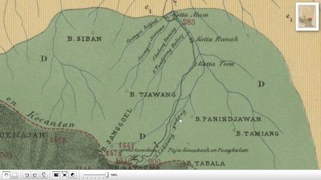 Peta Koto Alam Tahun 1880   KITLV Leiden Belanda