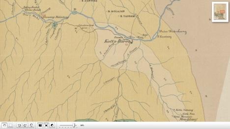 Peta Pangkalan Koto Baru 1880